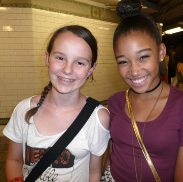 "Lexi with Amandla Stenberg ('Rue' from the ""Hunger Games"")"