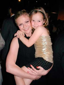 Lexi with Kirsten Dunst at Premiere